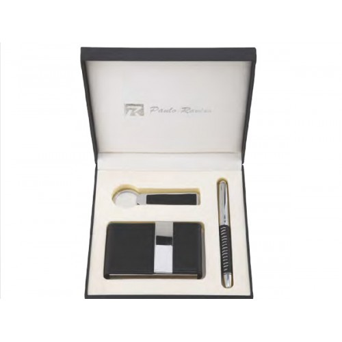 Gift set GS-19 card-holder money clip metal pen