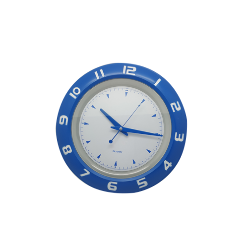 Blue edge Wall Clock with white interior WC 07