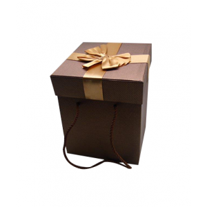 3 in one brown empty gift box