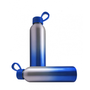 Water bottle aluminium blue/silver