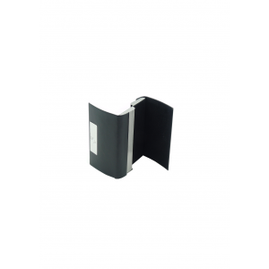 Card holder black single sided/metal canter bar
