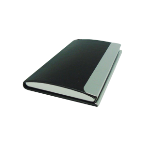 Card holder Black smooth single sided vertical shape
